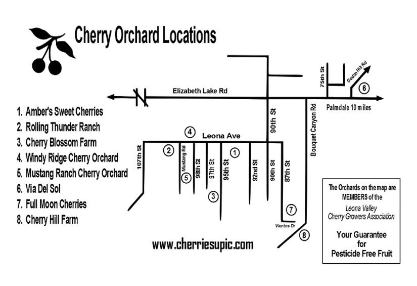 Leona Valley Cherry Growers Association Map